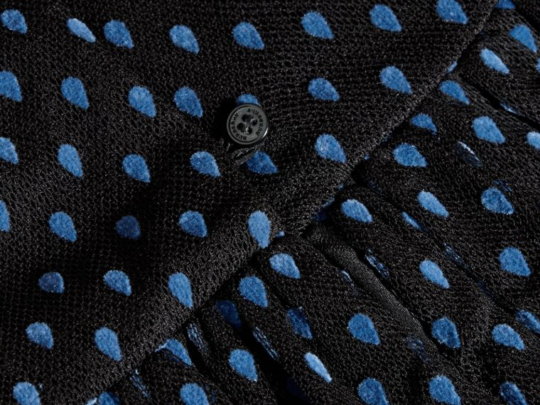 Noir Robe en tulle de coton et gaze à pois - cell image 1