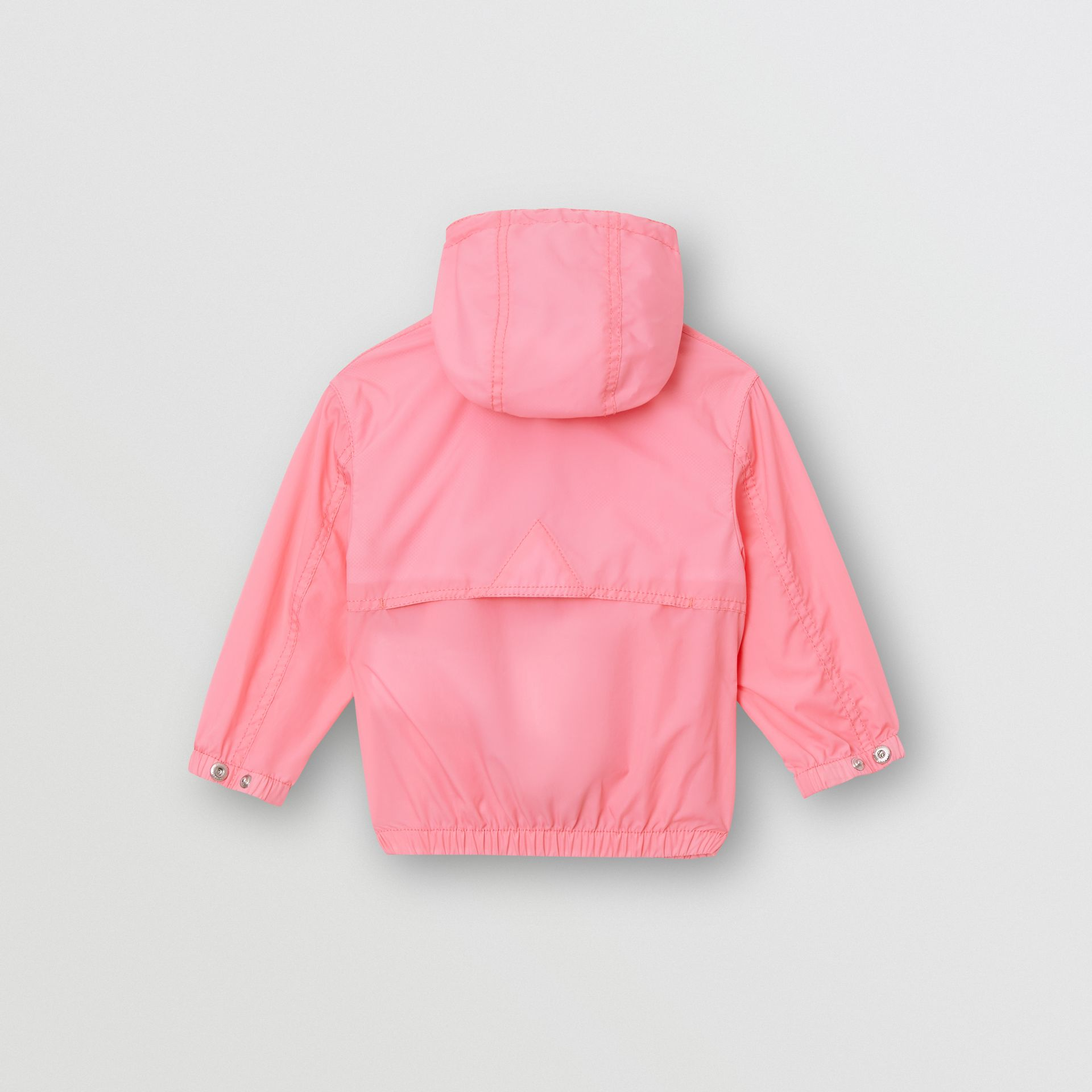 Logo Print Lightweight Hooded Jacket in Bright Rose - Children | Burberry - gallery image 3