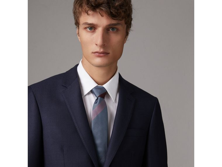 Modern Cut Check Silk Tie in Powder Blue - Men | Burberry - cell image 2