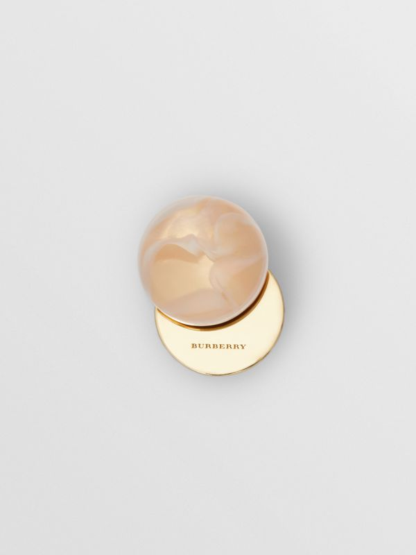 Marbled Resin Gold-plated Sphere Earrings in Light - Women | Burberry Singapore - cell image 3