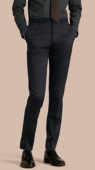 Pantalon de coupe étroite en coton