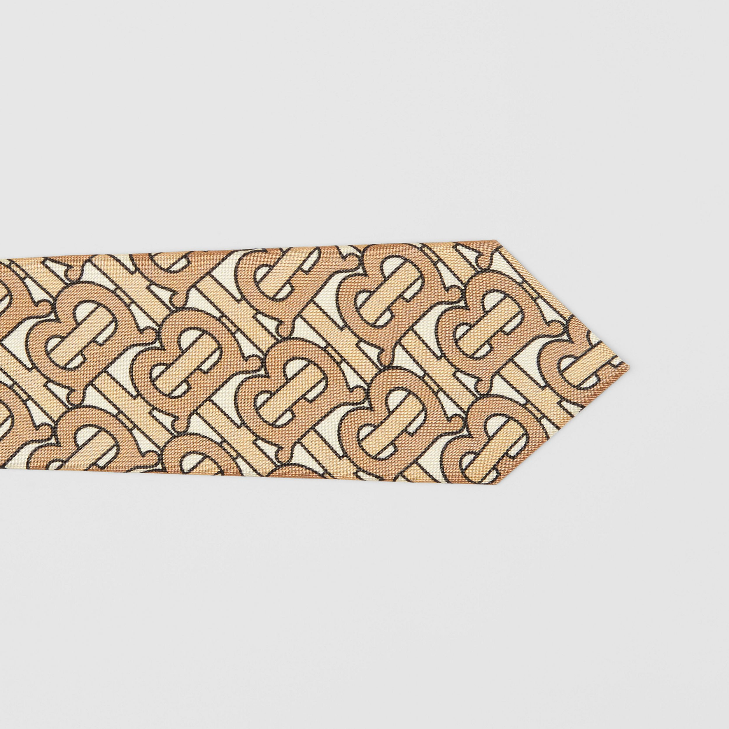 Classic Cut Monogram Print Silk Tie in Honey - Men | Burberry - 2