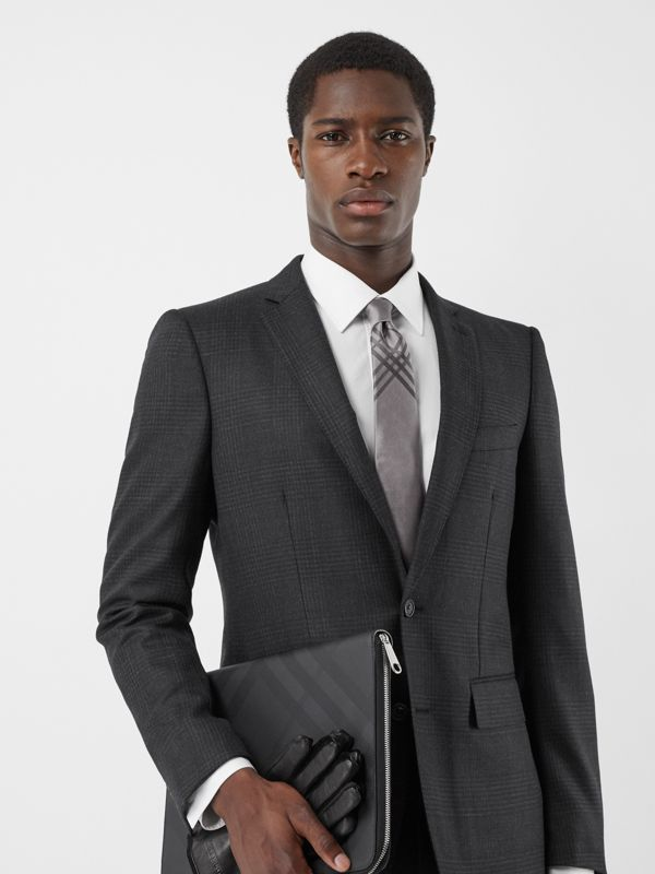 Classic Cut Check Silk Jacquard Tie in Storm Grey - Men | Burberry Hong Kong S.A.R - cell image 2