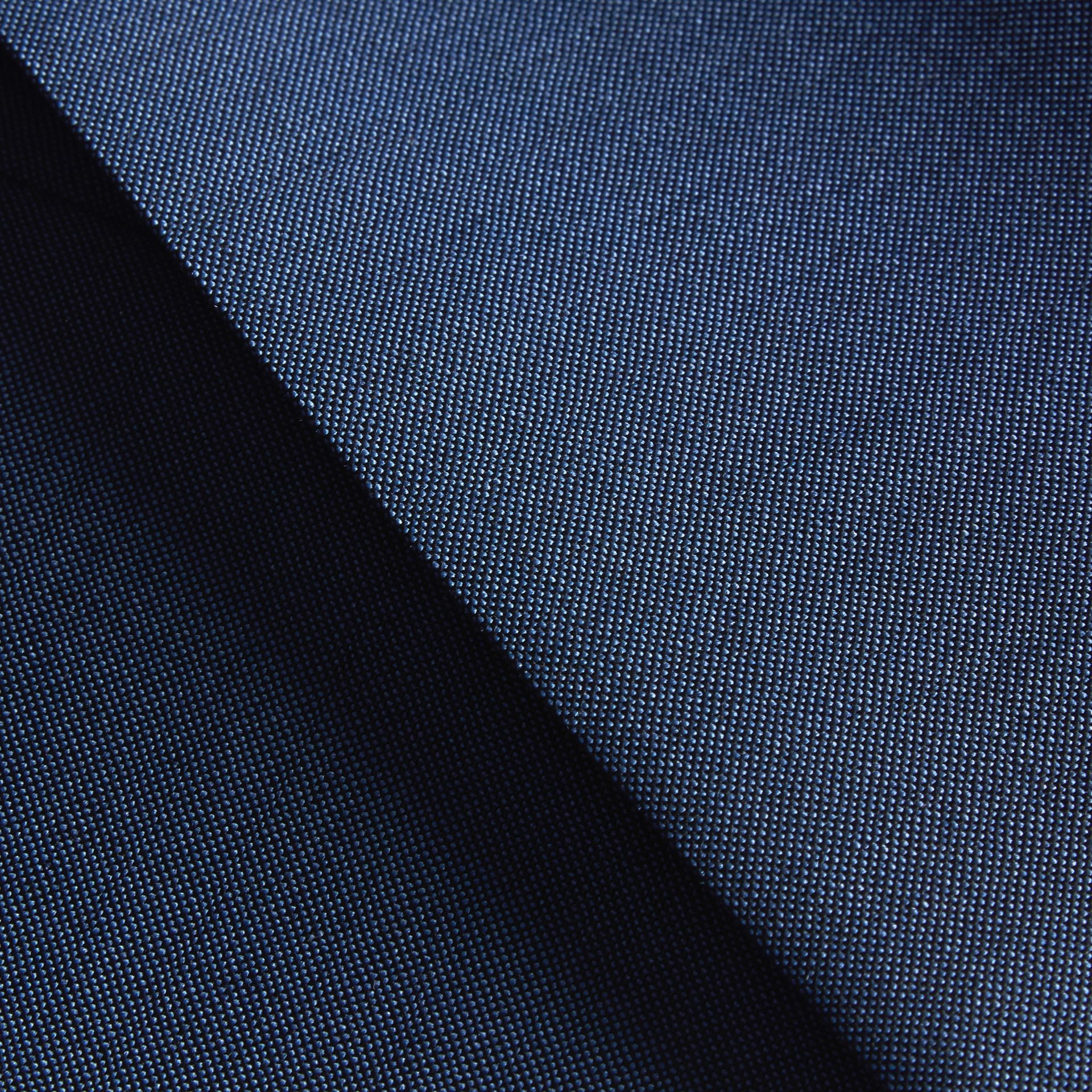 Dark canvas blue Slim Fit Wool Mohair Part-canvas Jacket - gallery image 2
