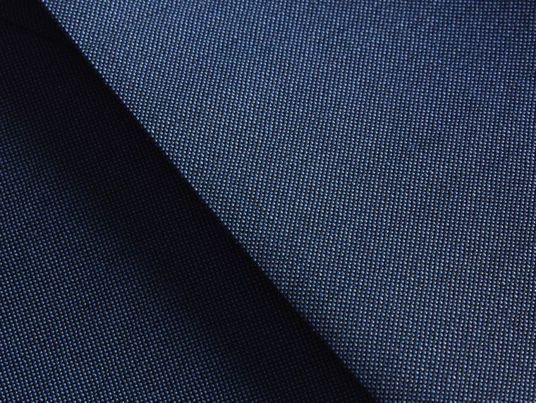 Dark canvas blue Slim Fit Wool Mohair Part-canvas Jacket - cell image 1