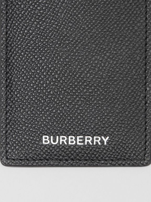 Grainy Leather Card Case in Black - Men | Burberry - cell image 1