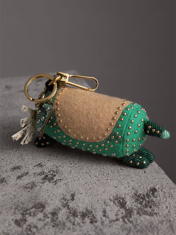 Trevor The Scottie Dog Cashmere Charm in Green Multi | Burberry - cell image 3