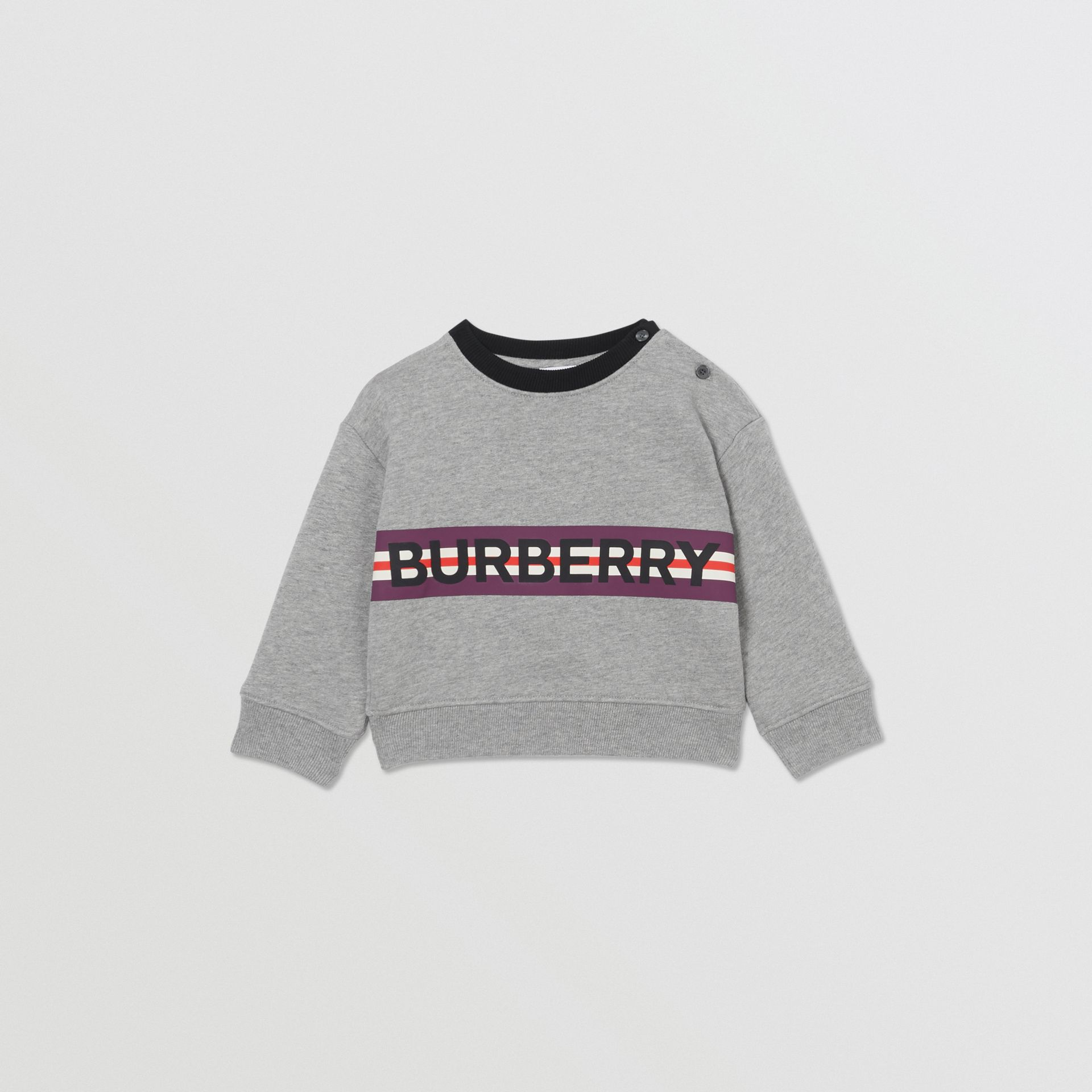 Logo Print Jersey Sweatshirt in Grey Melange - Children | Burberry - gallery image 0