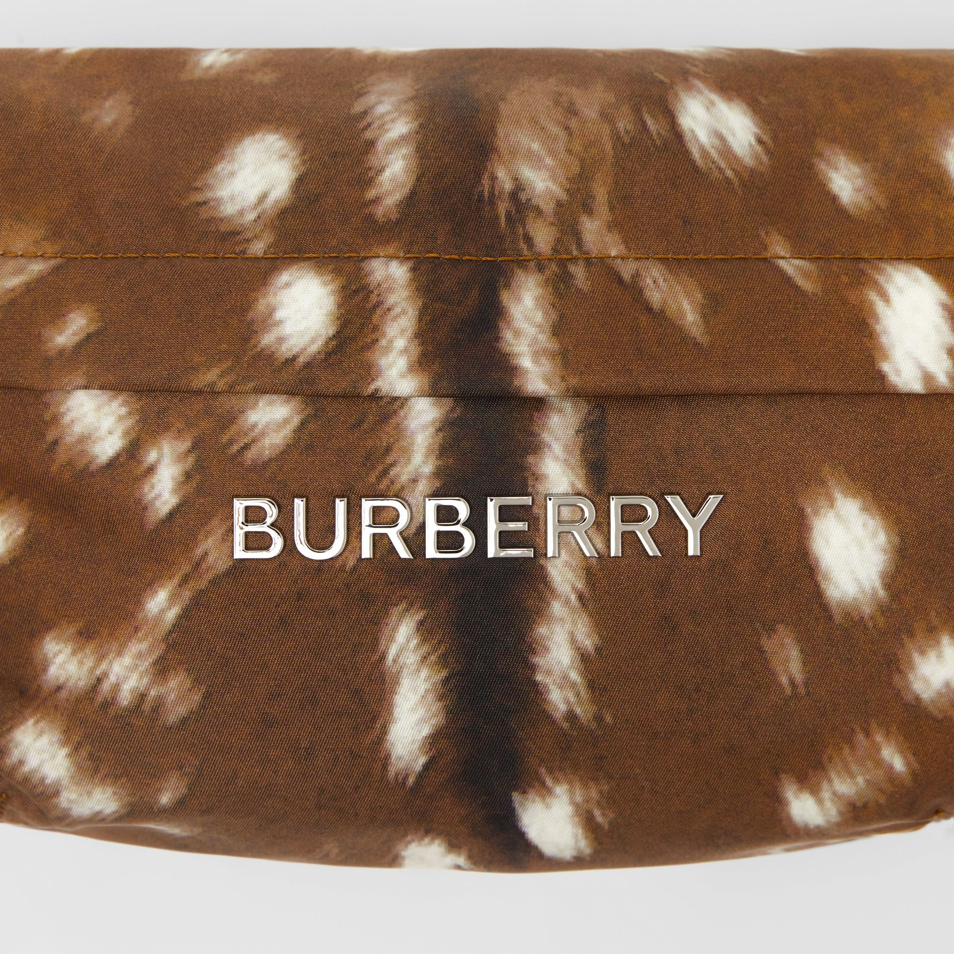 Medium Deer Print Bum Bag in Tan/white | Burberry - gallery image 1