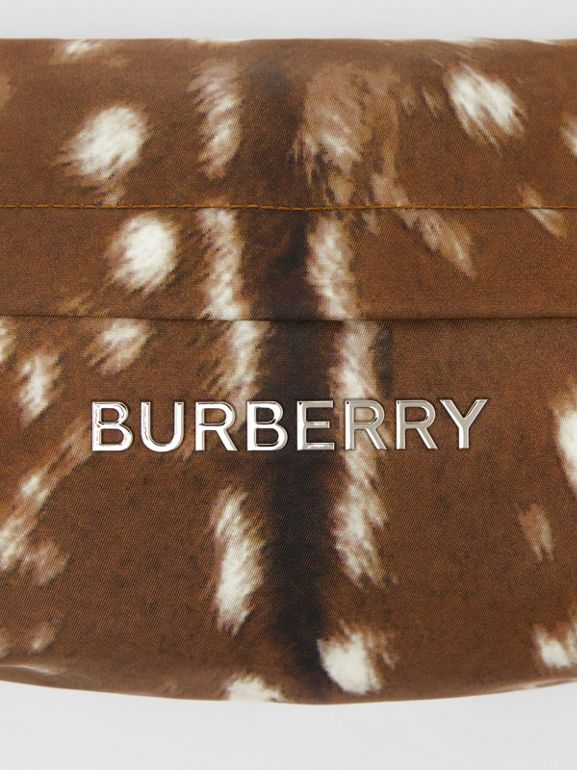 Medium Deer Print Bum Bag in Tan/white | Burberry Singapore - cell image 1