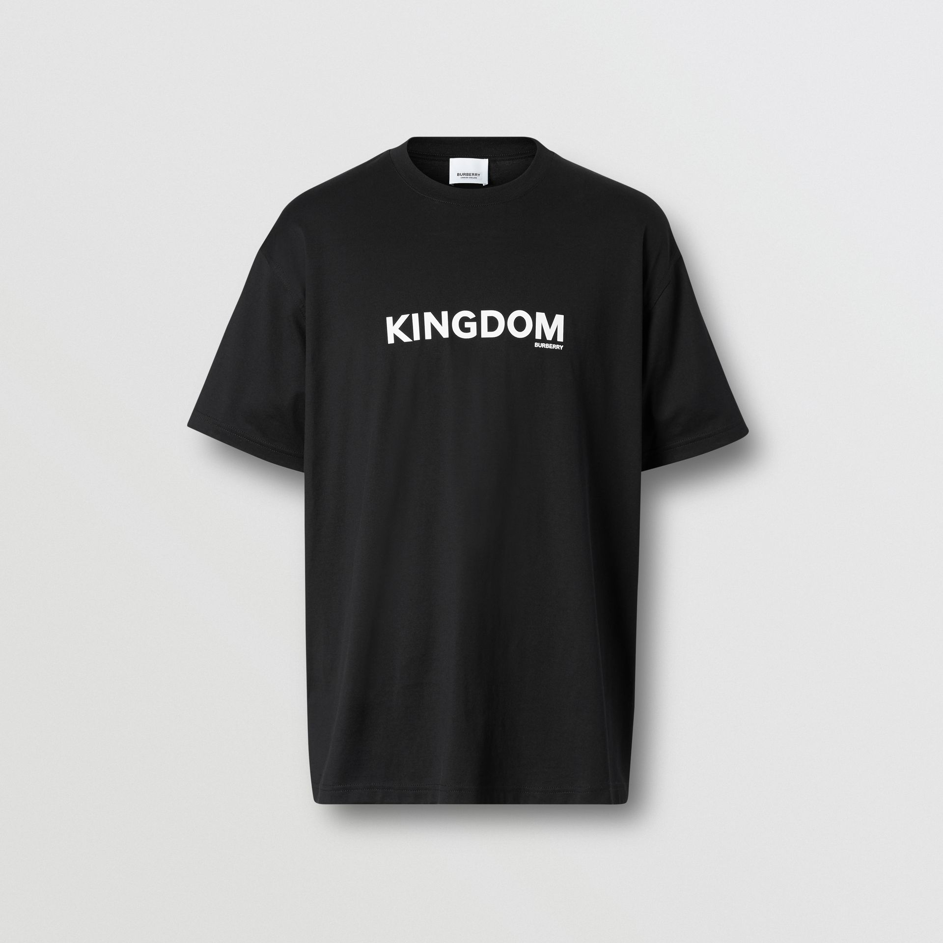 Kingdom Print Cotton T-shirt in Black - Men | Burberry - gallery image 3