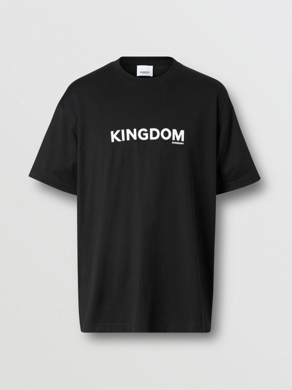 Kingdom Print Cotton T-shirt in Black