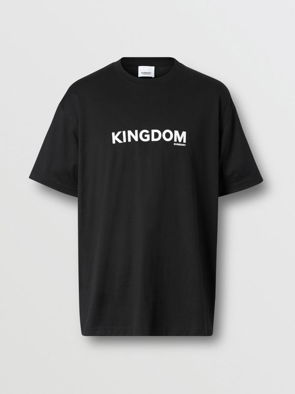 Kingdom Print Cotton T-shirt in Black - Men | Burberry - cell image 3