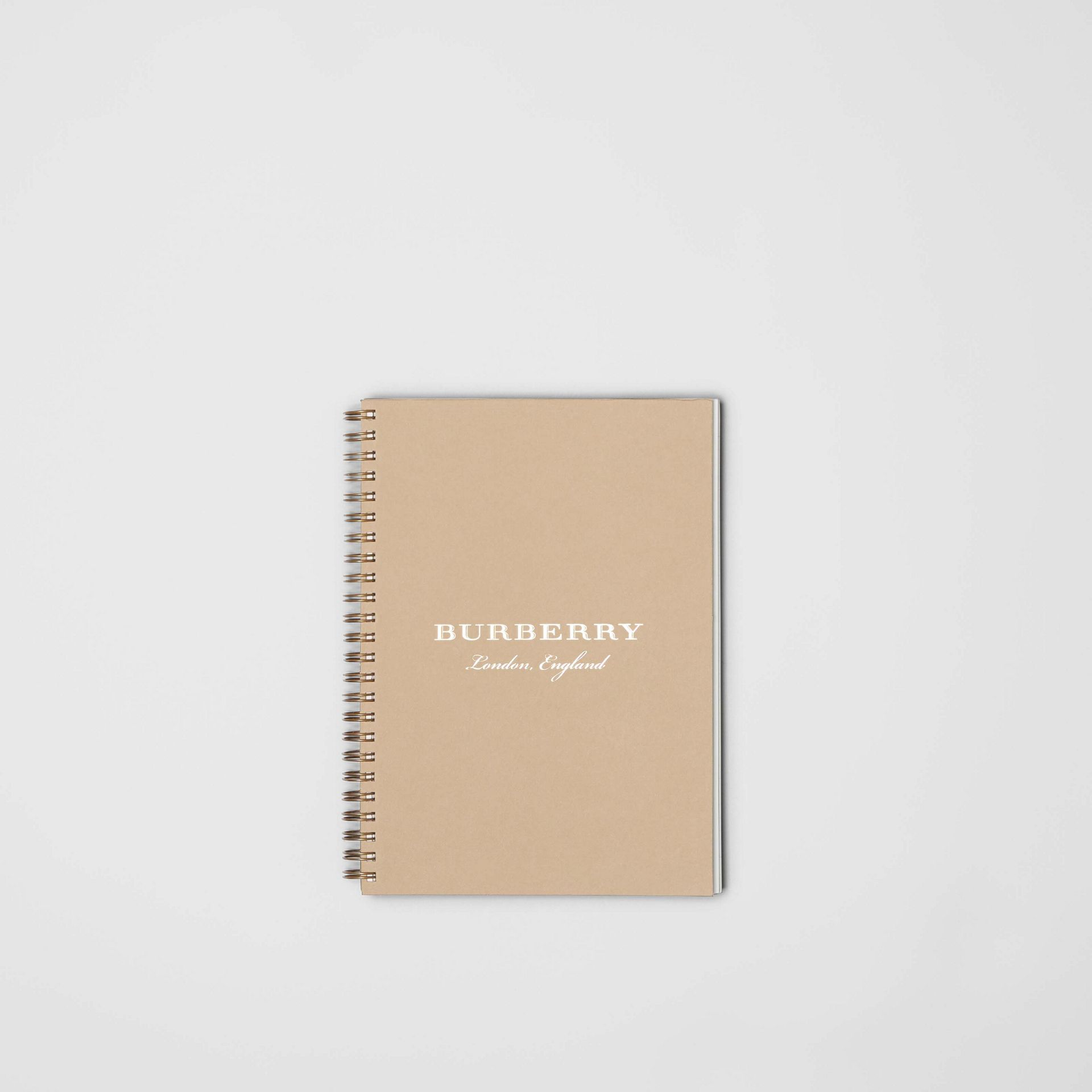 A5 Notebook Refill in Honey | Burberry United States - gallery image 0