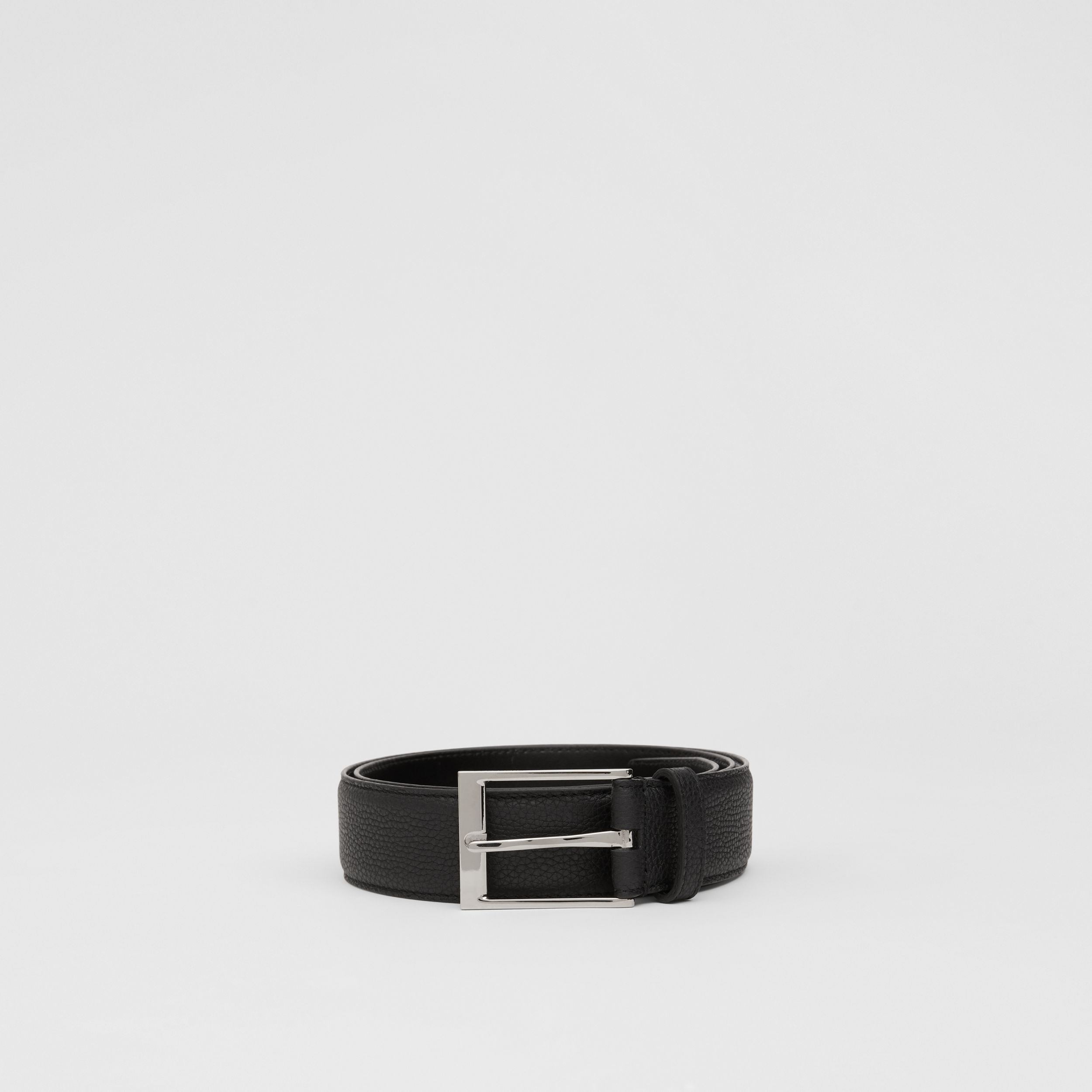 Grainy Leather Belt in Black - Men | Burberry - 4