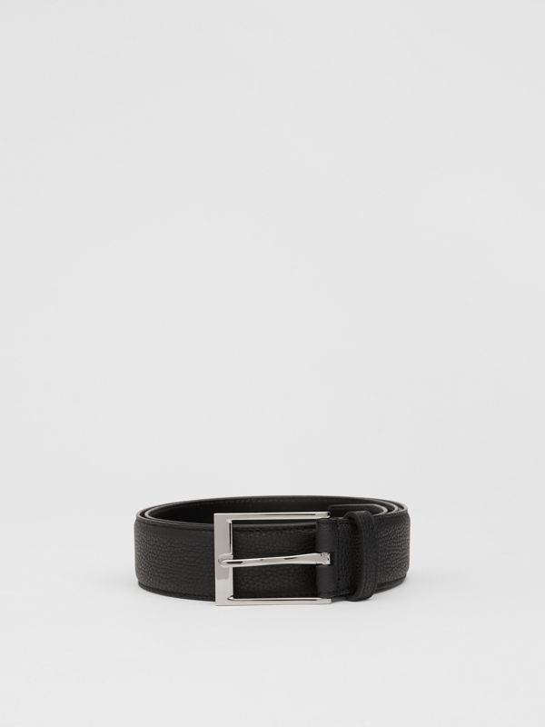 Grainy Leather Belt in Black | Burberry United Kingdom - cell image 2