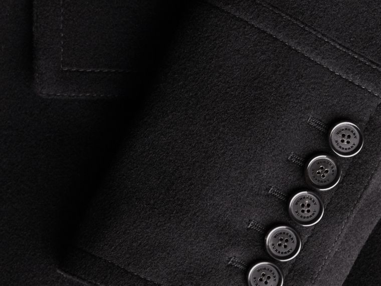 Black Wool Cashmere Pea Coat - cell image 1