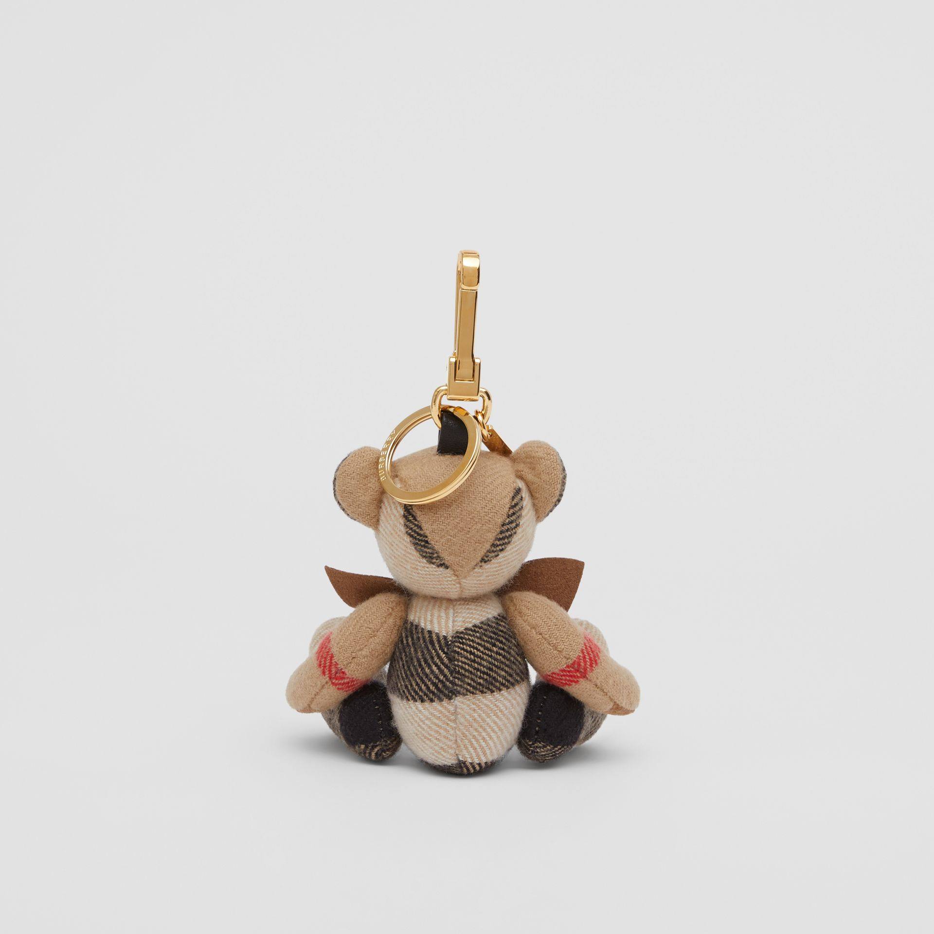 Thomas Bear Charm with Bow Tie in Archive Beige - Women   Burberry Australia - gallery image 3