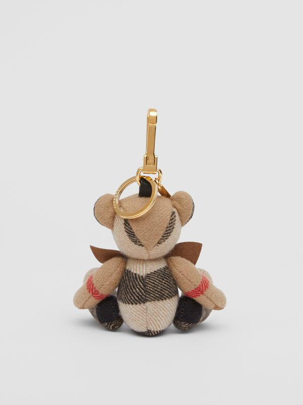 Thomas Bear Charm with Bow Tie in Archive Beige - Women   Burberry Australia - cell image 3