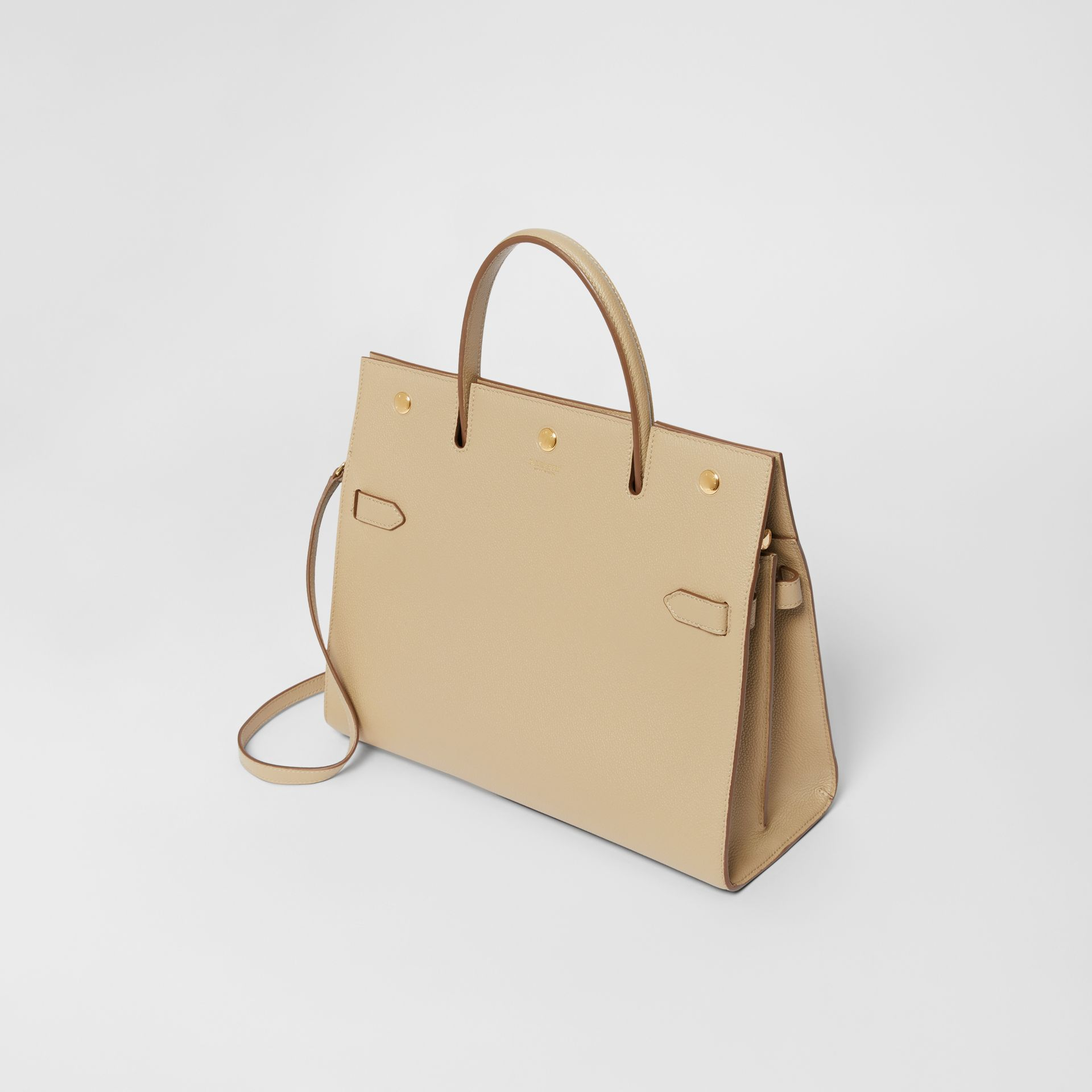Medium Leather Title Bag in Honey - Women | Burberry United Kingdom - gallery image 3