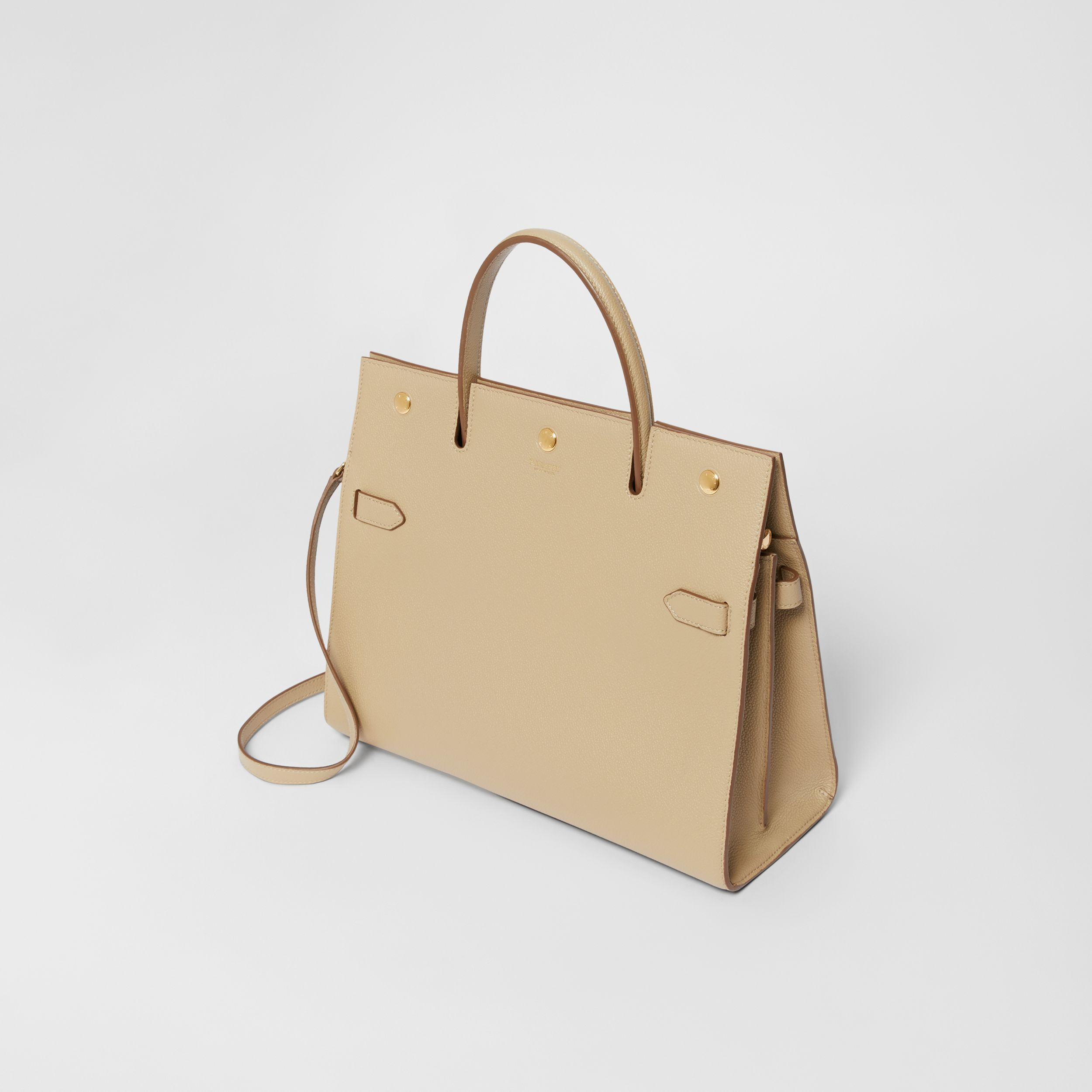 Medium Leather Title Bag in Honey - Women | Burberry - 4