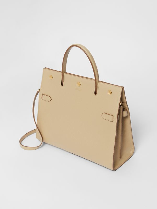 Medium Leather Title Bag in Honey - Women | Burberry United Kingdom - cell image 3