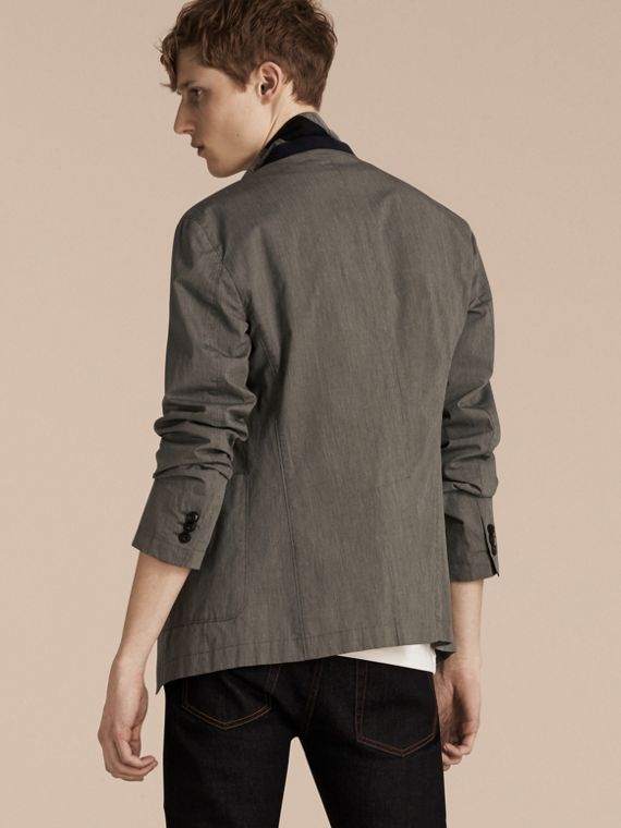 Dark grey Cotton Tailored Jacket - cell image 2