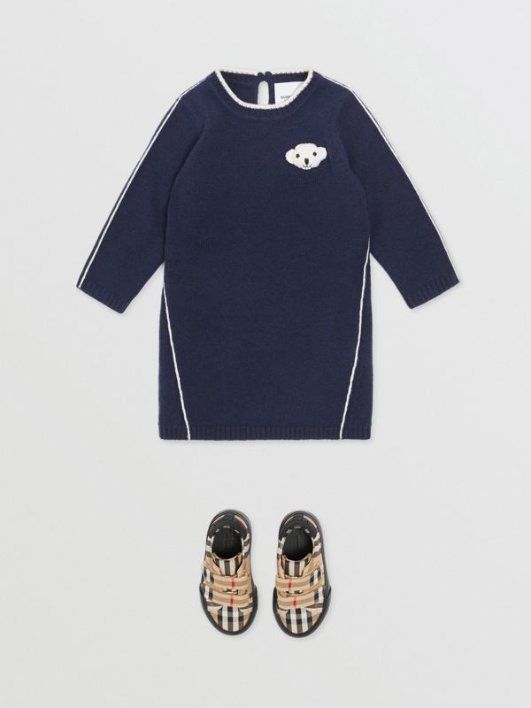 Vestitino in lana e cashmere con orsetto Thomas (Navy) - Bambini | Burberry - cell image 2