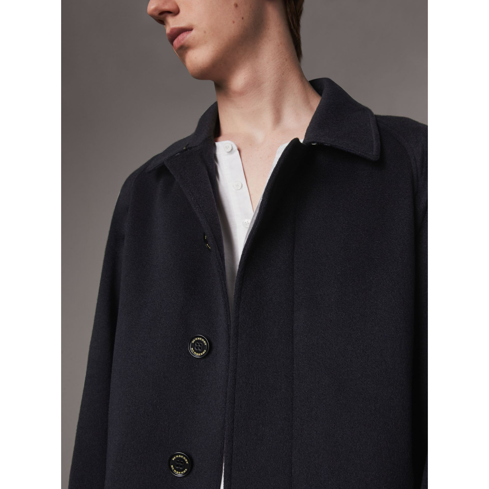 Cashmere Car Coat in Navy - Men | Burberry - gallery image 5