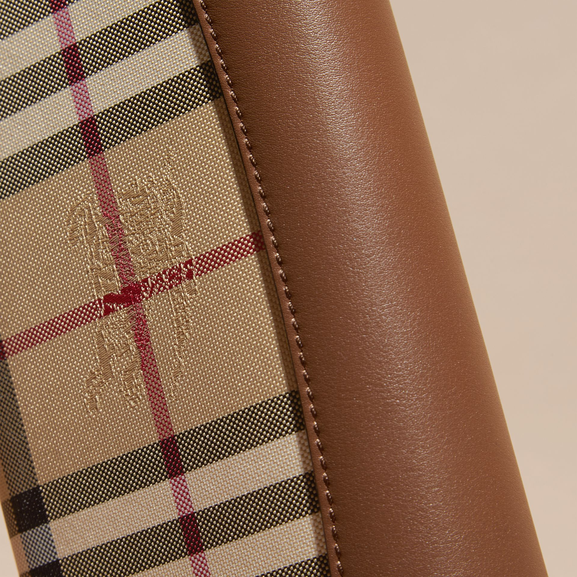 Horseferry Check and Leather Wallet with Chain in Tan - Women | Burberry - gallery image 6