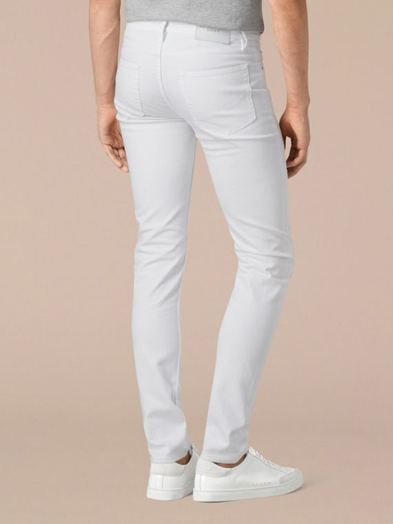 White Slim Fit Stretch Japanese Denim Jeans - cell image 2