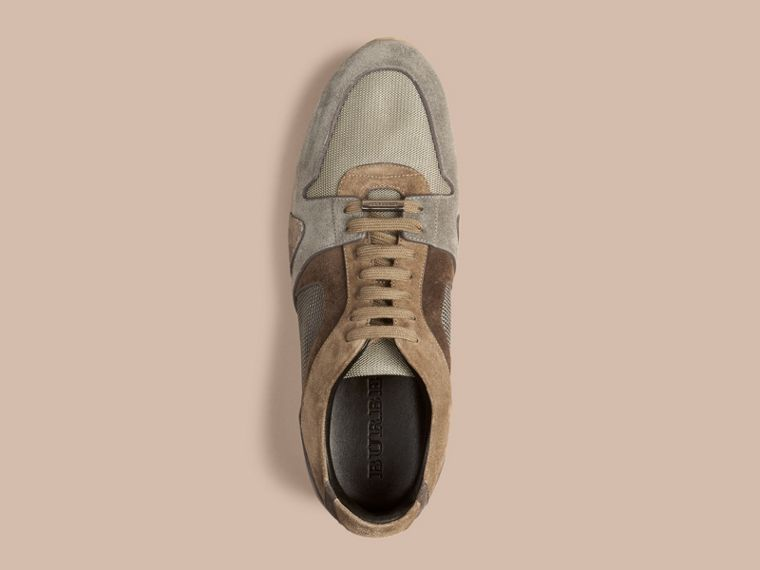 Greystone The Field Sneaker in Colour Block Suede and Mesh Greystone - cell image 2