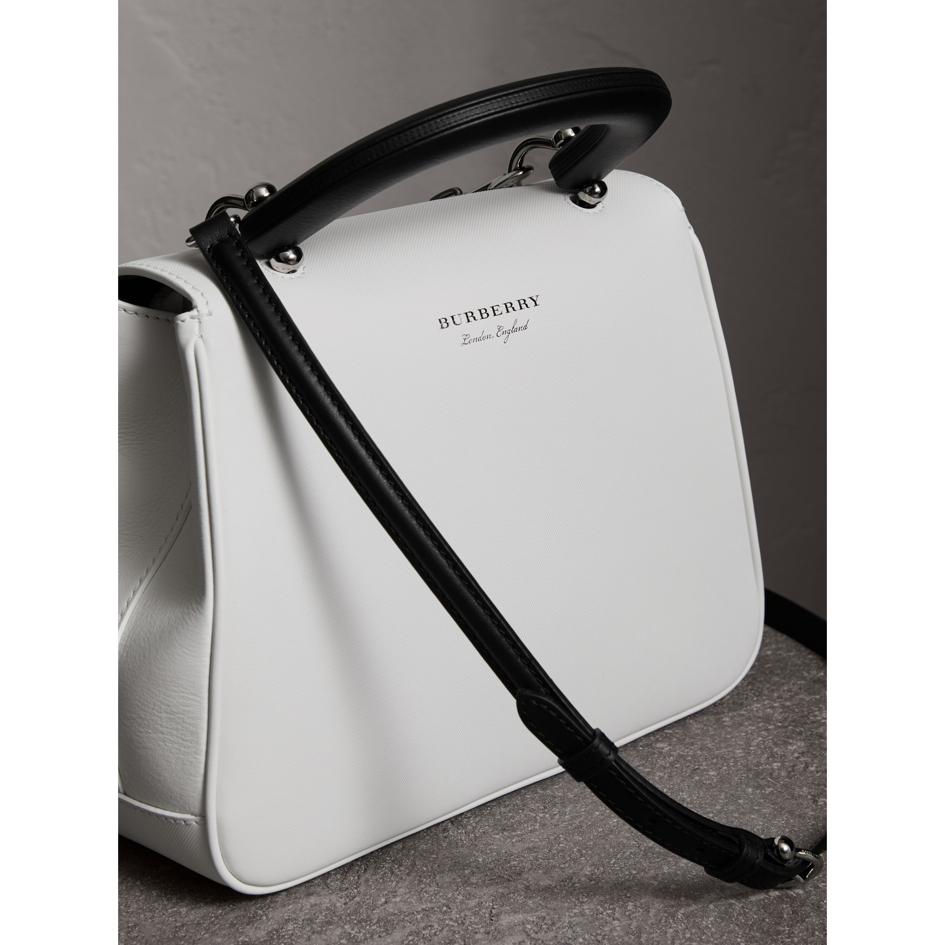 The Medium DK88 Top Handle Bag in Chalk White - Women | Burberry - gallery image 4