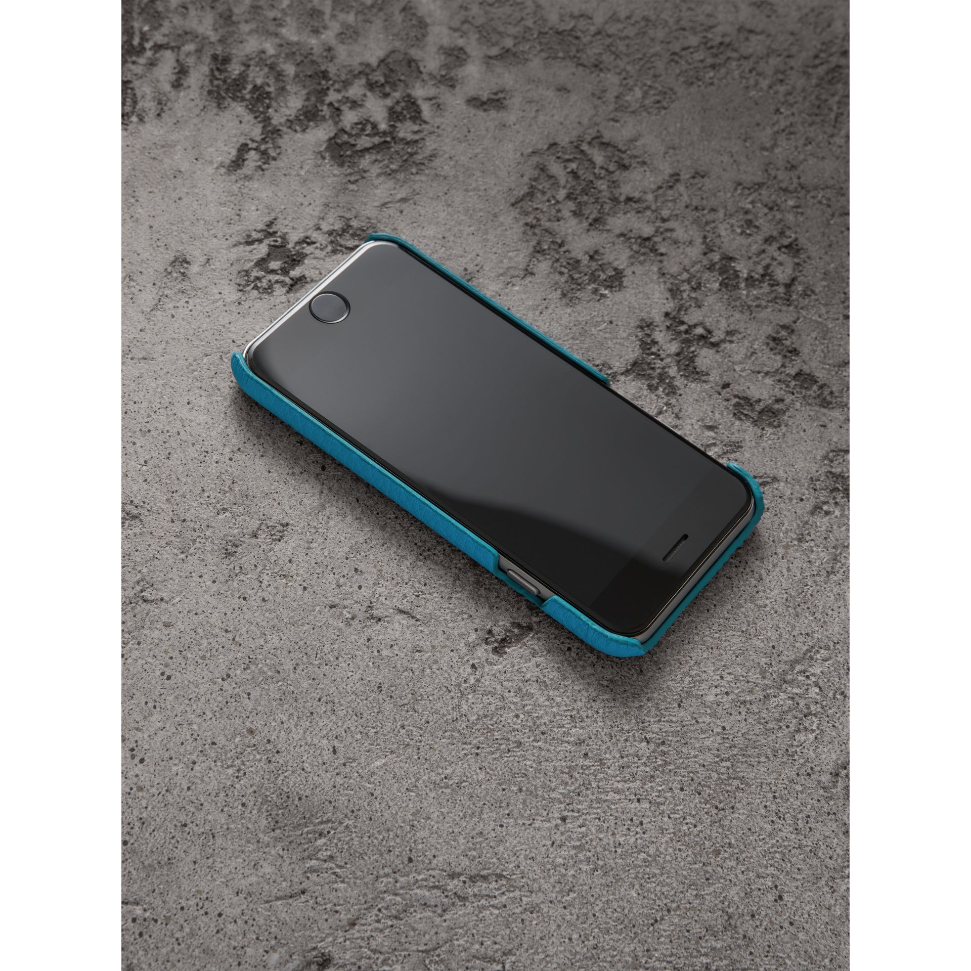Neon Leather iPhone 7 Case in Bright Blue - Women | Burberry - gallery image 2
