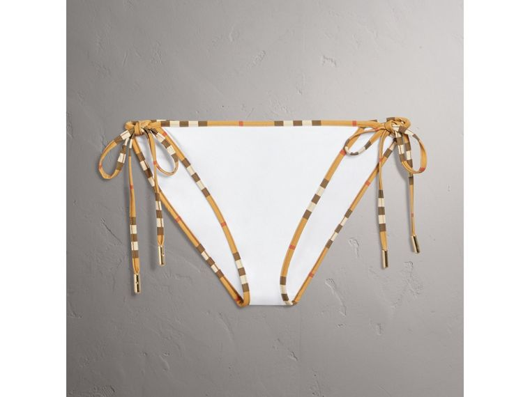 Vintage Check Trim Triangle Bikini in White - Women | Burberry - cell image 2