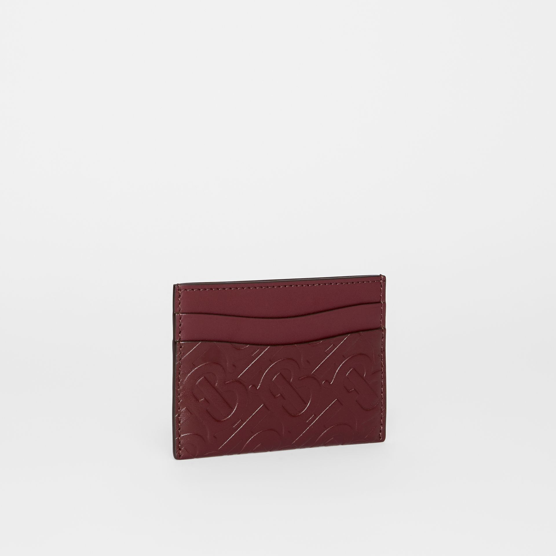 Monogram Leather Card Case in Oxblood - Women | Burberry Australia - gallery image 3
