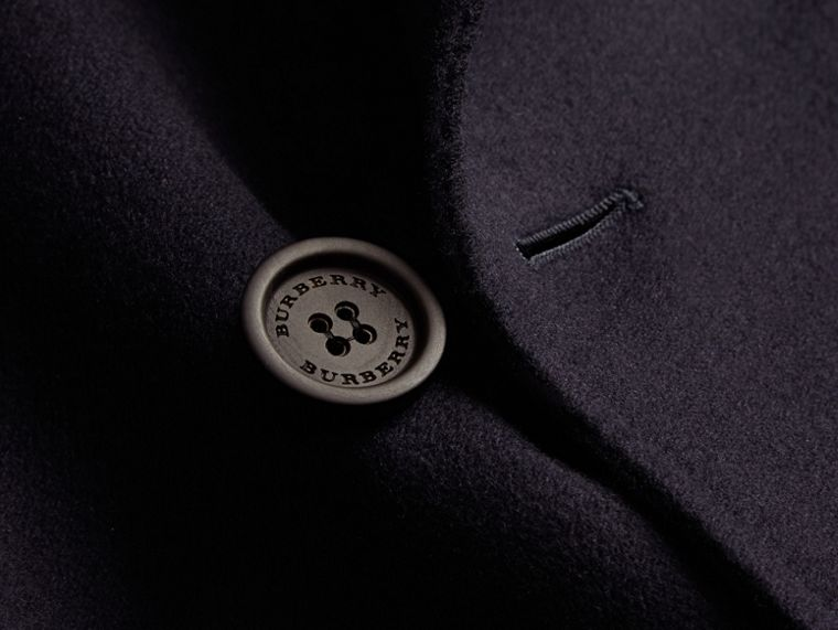 Navy Cashmere Wool Trench Coat - cell image 1