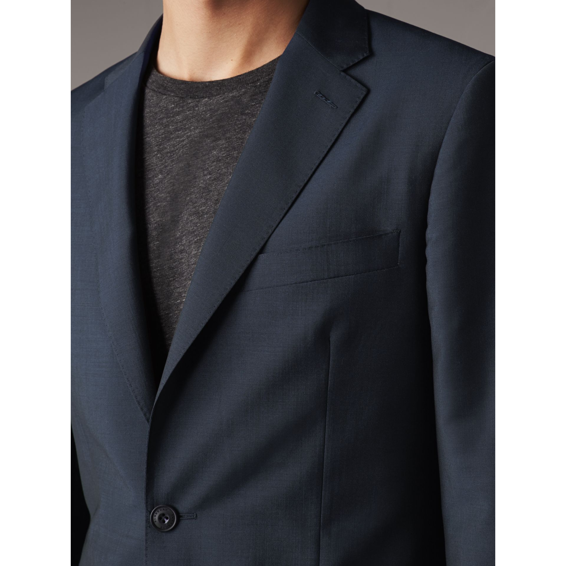 Soho Fit Wool Mohair Suit in Petrol Blue - Men | Burberry - gallery image 4