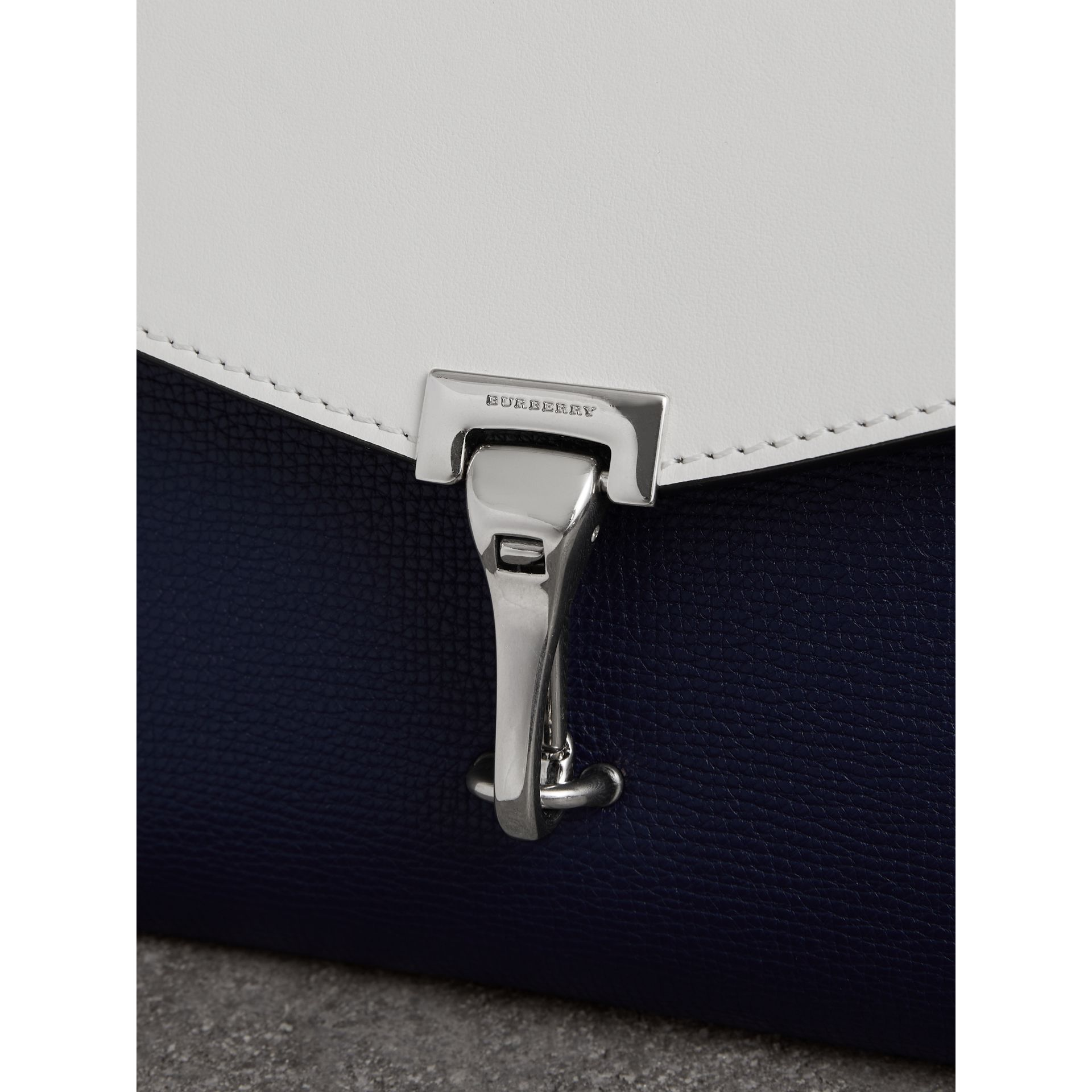 Two-tone Leather Crossbody Bag in Regency Blue/chalk White - Women | Burberry - gallery image 1