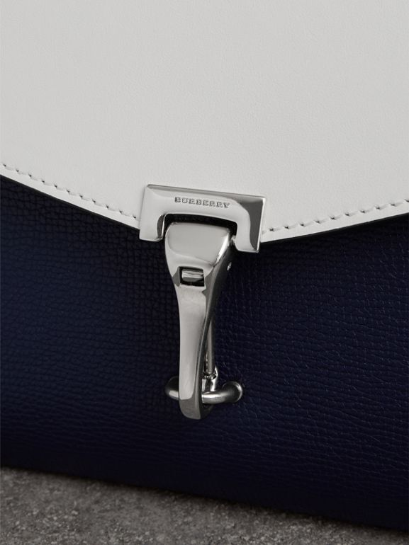 Two-tone Leather Crossbody Bag in Regency Blue/chalk White - Women | Burberry - cell image 1