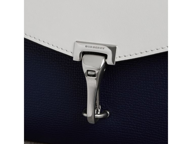 Two-tone Leather Crossbody Bag in Regency Blue/chalk White - Women | Burberry United Kingdom - cell image 1