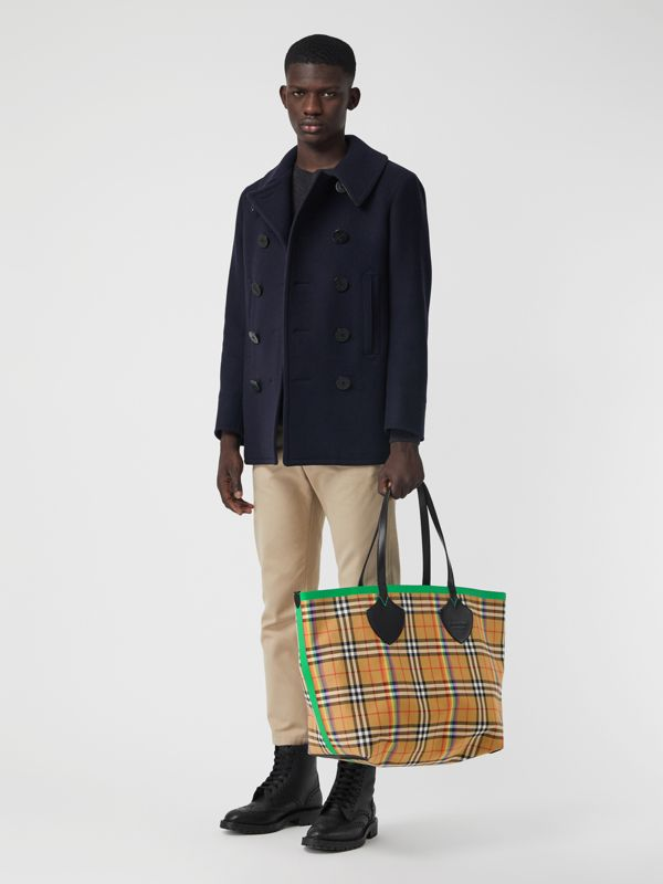 Sac tote The Giant à motif Rainbow Vintage check (Jaune Antique) | Burberry Canada - cell image 2