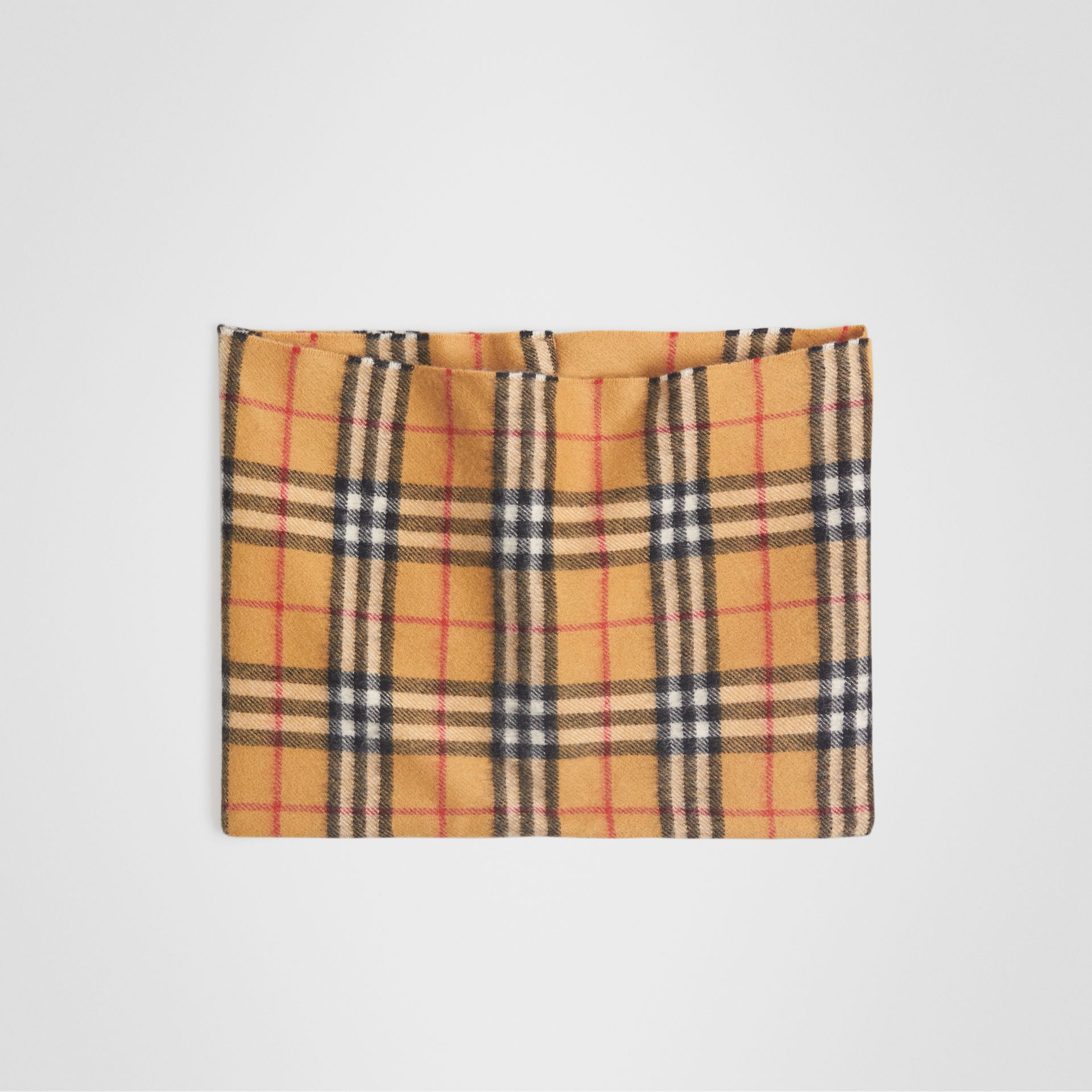 Vintage Check Cashmere Snood in Antique Yellow | Burberry Singapore - gallery image 0