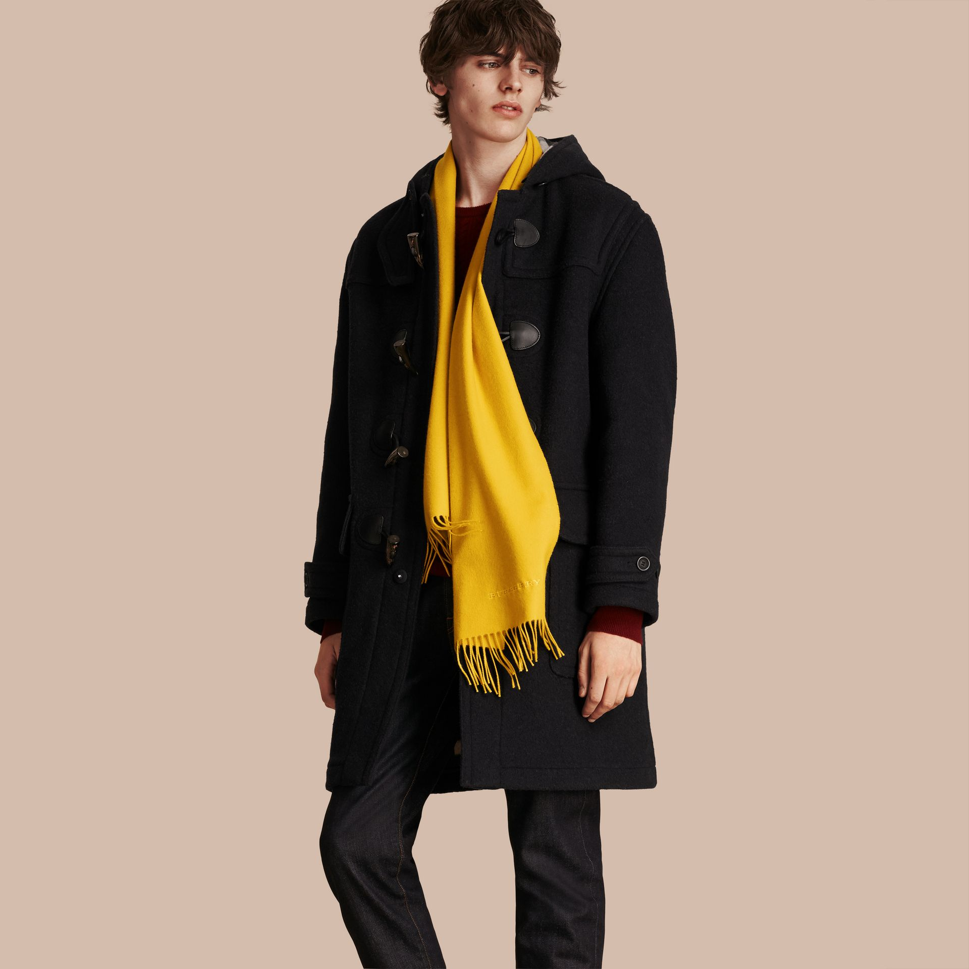 The Classic Cashmere Scarf in Gorse Yellow | Burberry Australia - gallery image 4
