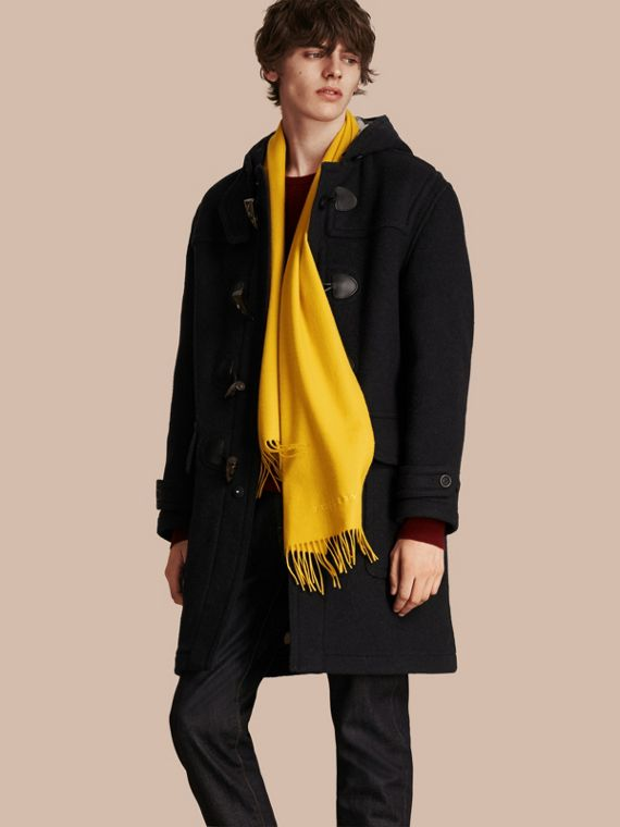 The Classic Cashmere Scarf in Gorse Yellow | Burberry Australia - cell image 3