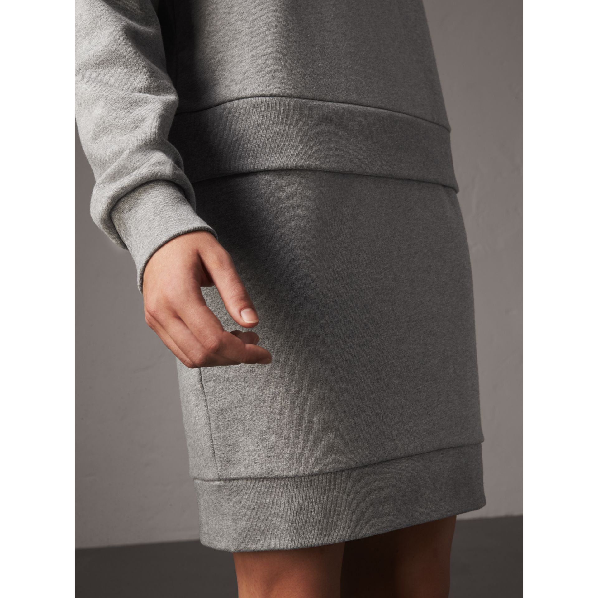 Ruffle-sleeve Sweater Dress in Pale Grey Melange - Women | Burberry - gallery image 5