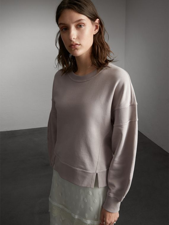 Puffed-sleeve Cotton Panelled Sweatshirt - Women | Burberry Australia