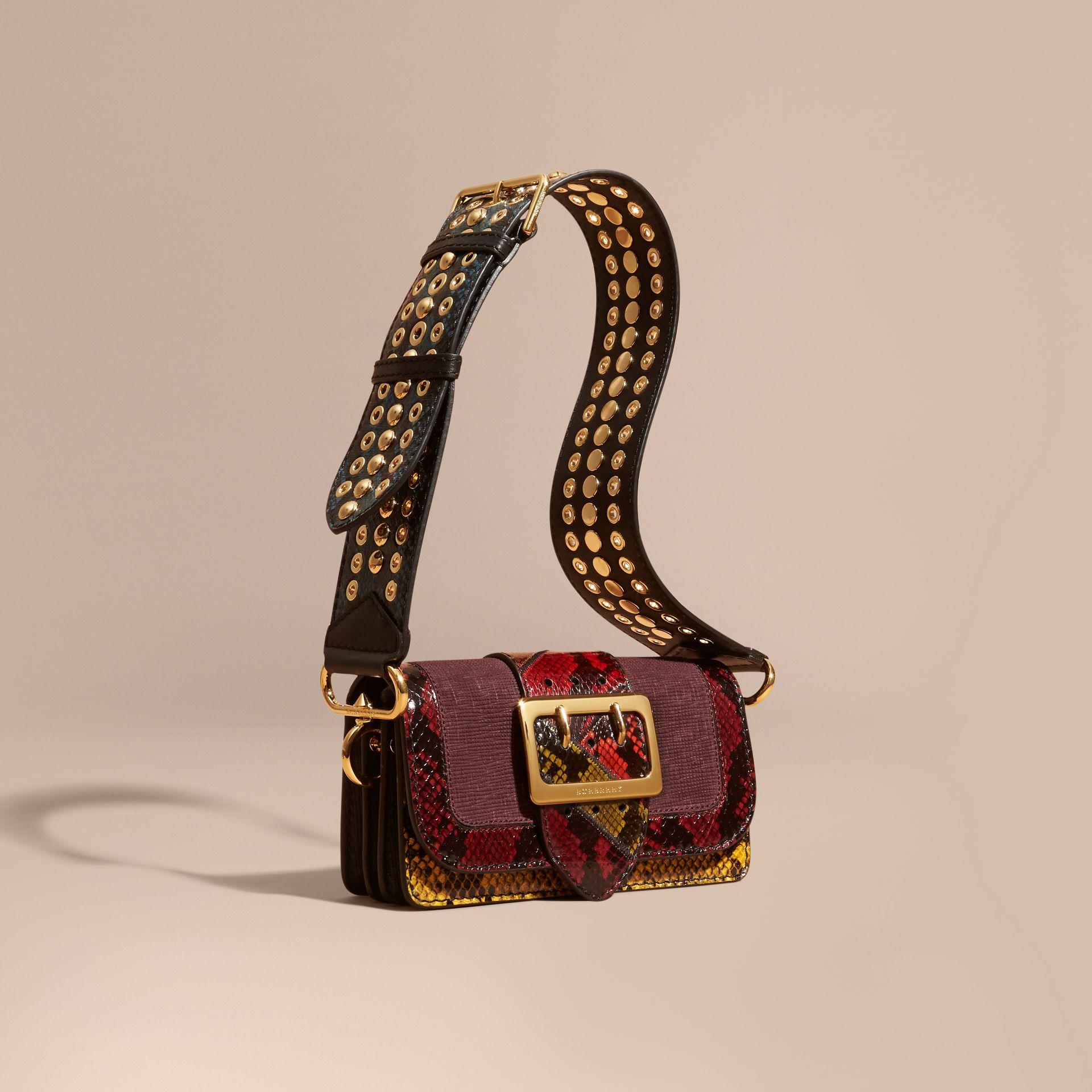 The Patchwork in Textured Suede and Snakeskin - gallery image 1