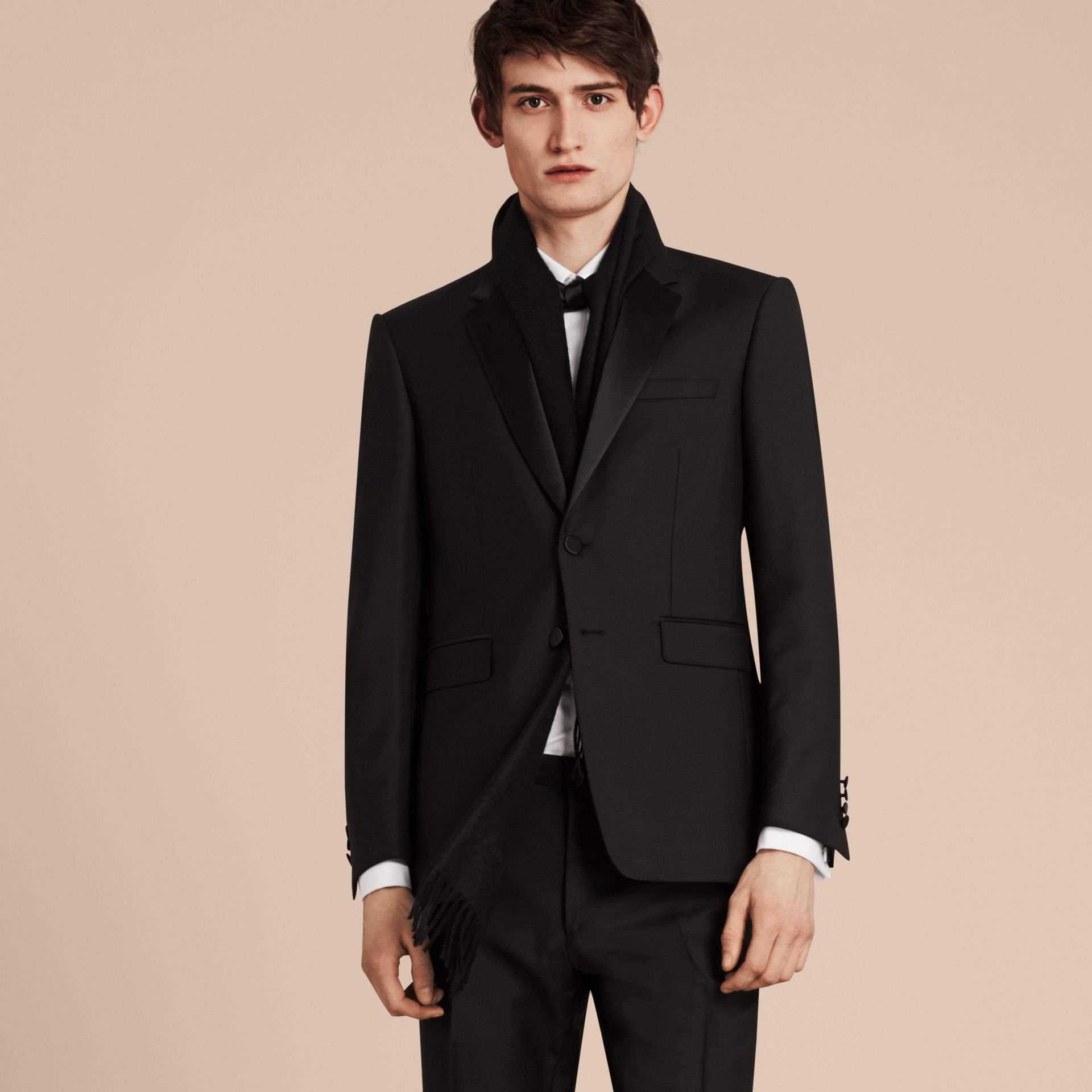 Modern Fit Wool Mohair Half-canvas Tuxedo - Men | Burberry - gallery image 5