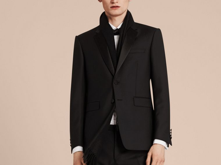 Modern Fit Wool Mohair Half-canvas Tuxedo - Men | Burberry - cell image 4